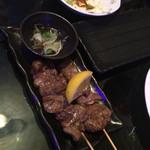 しし丸 - 料理写真:牛串。美味しかった!