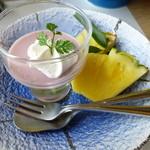 章月グランドホテル - 釜飯定食 桜餅のプリン