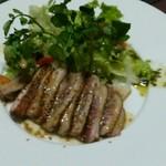 蓼科 - 料理写真:合鴨ステーキ 700円