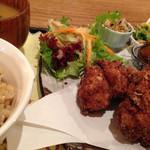 天然食堂 かふぅ - 鶏の薬膳唐揚げセット(1,296円)を頂きました。