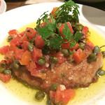 セルベセリア・グランビア - マグロホホ肉のソテー ケッパーソース