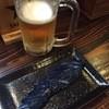 焼とり かごや - 料理写真:生ビールとなすのおしんこ