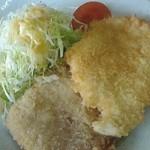 36876330 - 150311群馬 大豪 ラーメン定食(ハムカツ&チキンカツ)