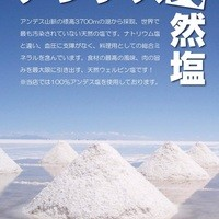 アンデス天然塩を使用!!