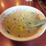 36886644 - 玉子とコーンのスープも美味