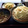 今福屋 - 料理写真:肉汁うどん+かきあげ 660円+110円