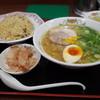 餃子の王将 - 料理写真:餃子の王将 御薗橋店の日本ラーメンと焼飯(15.03)