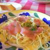 オステリア・バルディン - 料理写真:生ハムとキノコのパスタ