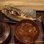 越後屋亀丸 - この日の日替わり『開きさば定食』