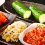 玄 - キムチ、豆もやしのナムル、カクテキときゅうり!
