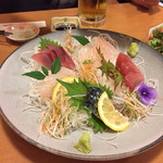 八笑 - 宴会料理のお刺身