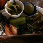 土蔵食亭 - 山菜盛合せ