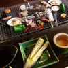 竹仙郷 - 料理写真:炭で焼いて頂きます