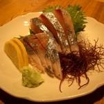 えぼし 茅ヶ崎本店 - シマアジの刺身