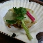緑彩 - ホタテの豆乳クリーム焼き