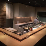 たつみ寿司 - 2階カウンター( ̄^ ̄)ゞ