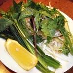 サイゴン - 鶏肉フォー 付け合せの生野菜
