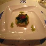 37126193 - アミューズ:「白バイ貝のガレット カレー風味」