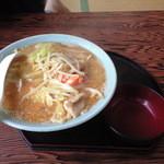 中園食堂 - 味噌タンメン550円魚介・野菜・豚肉がたっぷり入っておいしい。