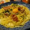 五右衛門 - 料理写真:カマンベールチーズとカリカリベーコンのカルボナーラ