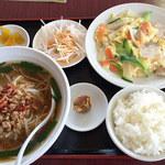 台湾料理 茂源 - 料理写真:日替わりランチ 10.豚肉と玉子炒め+台湾ラーメン 680円