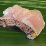 吉冨寿し - 炙った熟成したアマダイ、多分白甘鯛でしょう。