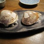 蕎麦屋 山都 - 「焼きハマグリ」(2個)