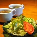 るもん - サラダ、スープ