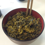 千成や - 名物、明太子入り高菜の油炒め