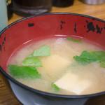とんかつ八千代 - お味噌汁