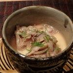 千翠 - 浅利と白アスパラの茶碗蒸し 秀逸