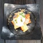 島野菜カフェ Re:Hellow BEACH - 黒糖×島バナナのシフォンケーキ、これは美味 (*´﹃`*)