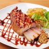 Koharu亭 - 料理写真:幻霜ポークバラ肉のコンフィー超極厚ステーキ 1800円