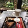 酒庵 空カフェ - 料理写真:酒蔵のチーズケーキ&甘酒ミルク