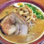 麺屋 一本気 - みそらー麺・めんま(大盛)(2015年4月)