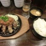 渋谷トンテキ - トンテキ300g+ご飯、味噌汁1200円