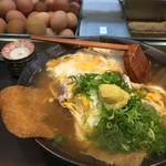 ぺこぺこ - 料理写真:玉子とじシャコ天・きつね・肉ゴボウ