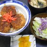 越前和食処 花はす - ソースカツ丼1050円