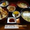 ゆめ一茶 - 料理写真:刺身と天丼にミニ蕎麦付きのお勧めランチ(954円)