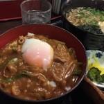 そば処 善作家 - カレー丼定食のカレー丼