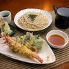 萱笑 - 料理写真:天然大えび天ぷらそば ざるそば