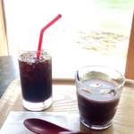 カフェ・ドゥ・パン - 冷やしぜんざい セット