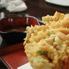 浜乃納屋 - 料理写真:巨大なかき揚げ