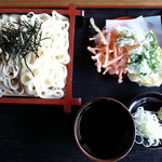 しんすい庵 - ■パンダそば ¥550 (蕎麦とうどん )と 天ぷら ¥100