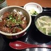 庄屋 - 料理写真:ステーキ丼定食 2015.4