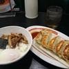 幸楽苑  - 料理写真:玉丼+餃子のセット♪