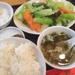 魯園菜館 - 日替わりBセット 綺麗な味で美味〜