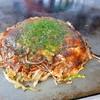 ますだお好み焼 - 料理写真:肉・玉子・そば入り(550円)