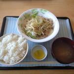 中園食堂 - 野菜炒め定食500円肉・野菜がたっぷり(中園食堂ワンコイン定食最高)
