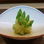 辻政 - 料理写真:付だし 筍の木の芽和え